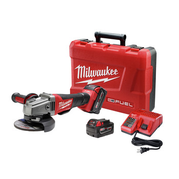 Milwaukee 2780-22 M18 FUEL 4-1/2 in. - 5 in. Paddle Switch Grinder with (2) REDLITHIUM Batteries