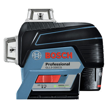 Bosch GLL3-330CG 360-Degrees Connected Green-Beam Three-Plane Leveling and Alignment-Line Laser image number 1