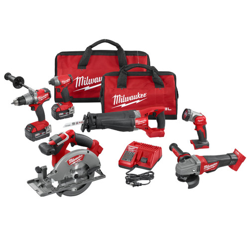 Milwaukee 2896-26 M18 FUEL Cordless Lithium-Ion 6-Tool Combo Kit