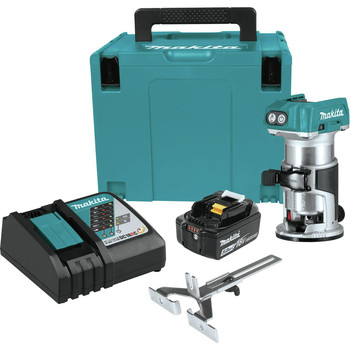 Makita XTR01T8J 18V LXT Lithium-Ion Brushless Cordless Compact Router Starter Kit (5.0Ah) image number 0