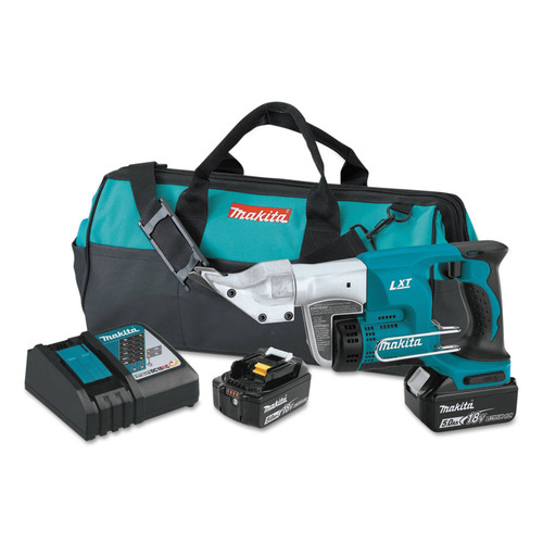Makita XSJ01T 18V LXT 5.0 Ah Cordless Lithium-Ion 18-Gauge Straight Shear Kit