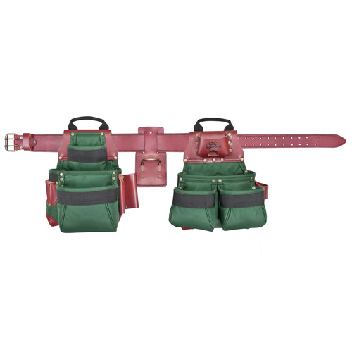 CLC 54531X 17 Pocket - Top of the Line Pro Framer's Ballistic Nylon Combo Tool Belt System-XL image number 0