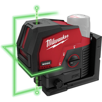 Milwaukee 3622-20 M12 Green Cross Line and Plumb Points Cordless Laser (Tool Only)