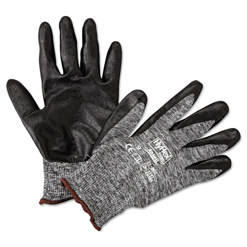 AnsellPro 103384 HyFlex Foam Gloves, Dark Gray/Black, Size 9, 12 Pairs image number 0