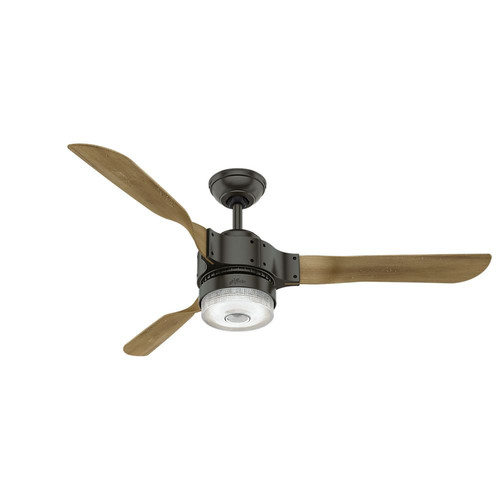 Hunter 59226 54 in. Apache Ceiling Fan with Light and Handheld Remote (Noble Bronze)