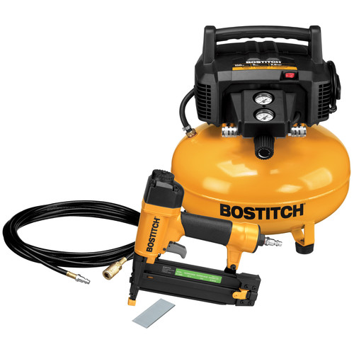 Factory Reconditioned Bostitch BTFP1KIT-R 18-Gauge Brad Nailer and Compressor Combo Kit