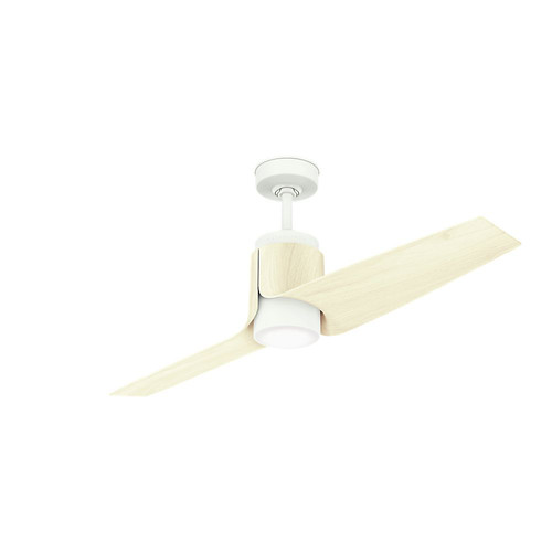 Casablanca 59337 Wi-Fi Enabled HomeKit Compatible 54 in. Aya Porcelain White Ceiling Fan with Light and Integrated Control System-Wall Control