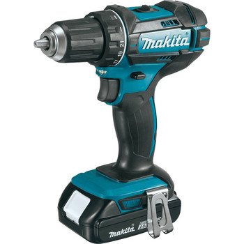 Makita XFD10R 18V LXT Lithium-Ion Compact 1/2 in. Cordless Drill Driver Kit (2 Ah) image number 1