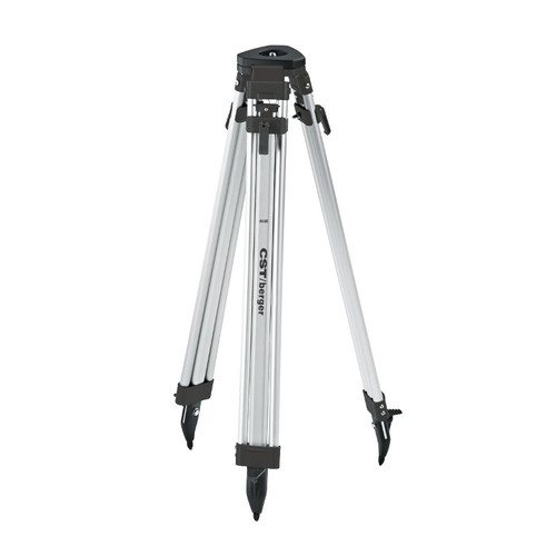 CST/berger 60-ALQCI20-B 63 in. Quick-Clamp Aluminum Flat Head Contractor's Tripod (Black)