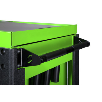 Sunex 8035XTLG 3 Drawer Slide Top Utility Cart with Power Strip (Lime Green) image number 6