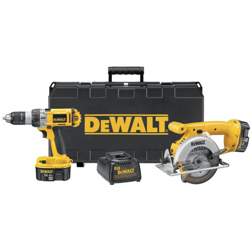 Factory Reconditioned Dewalt DC983SAR 14.4V XRP Cordless 2-Tool Combo Kit image number 0