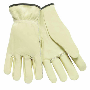 MCR Safety 3200L Premium Grade Cowhide Drivers Glove - Large, Unlined