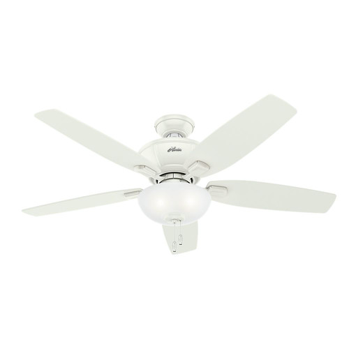 Hunter 53375 52 in. Kenbridge Fresh White Ceiling Fan with Light