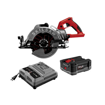 SKILSAW SPTH77M-11 TRUEHVL Lithium-Ion 7-1/4 in. Cordless Worm Drive Saw Kit with (1) 5 Ah Battery