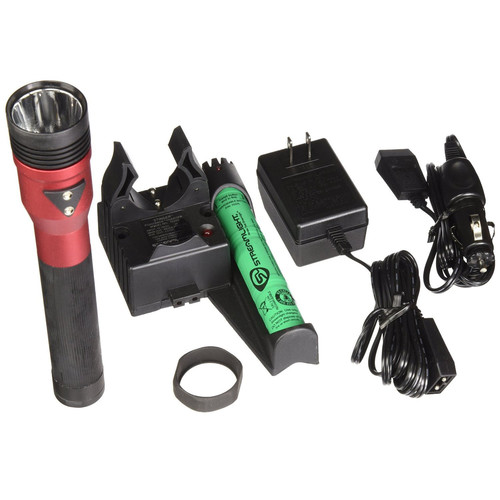 Streamlight 75494 Stinger DS LED HL Rechargeable Flashlight with Piggyback Charger (Red) image number 0