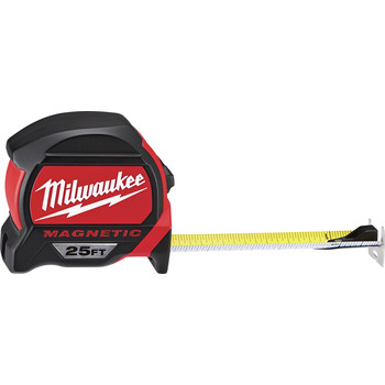 Milwaukee 48-22-7125C 25 ft. Magnetic and Compact Tape Measure (2 Pc) image number 2