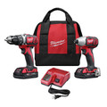 Milwaukee 2691-22 M18 18V Lithium-Ion 1/2 in. Drill Driver and 1/4 in. Impact Driver High Performance Combo Kit