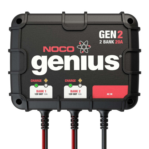NOCO GEN2 GEN Series 20 Amp 2-Bank Onboard Battery Charger