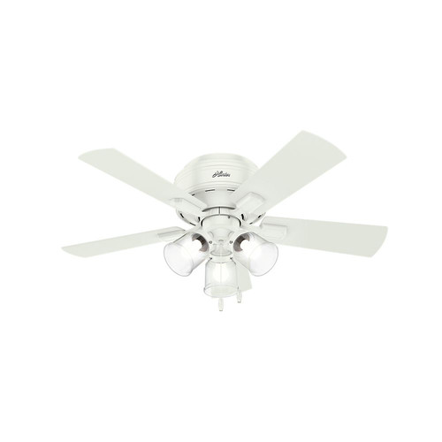 Hunter 52152 42 in. Crestfield Fresh White Ceiling Fan with Light image number 0
