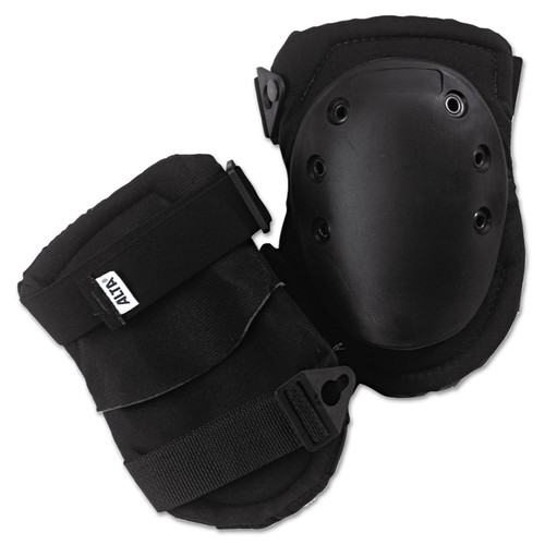 ALTA 50413 AltaLok Knee Pads, Fastener Closure, Neoprene/Nylon, Rubber, Black