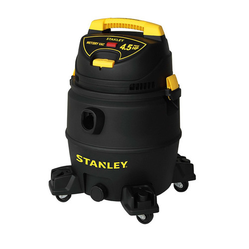 Stanley SL18017P 4.5 Peak HP 8 Gallon Portable Poly Wet Dry Vac with Casters