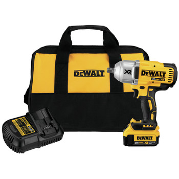 Dewalt DCF899M1 20V MAX XR Cordless Lithium-Ion 1/2 in. Brushless High-Torque Impact Wrench with Detent Pin Anvil