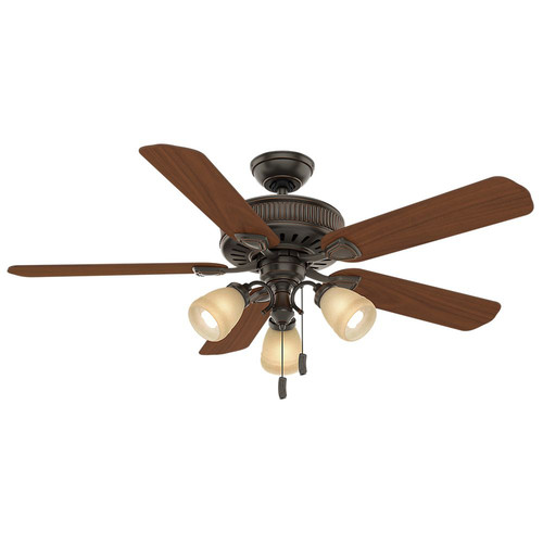 Casablanca 54006 54 in. Ainsworth Gallery 3 Light Onyx Bengal Ceiling Fan with Light