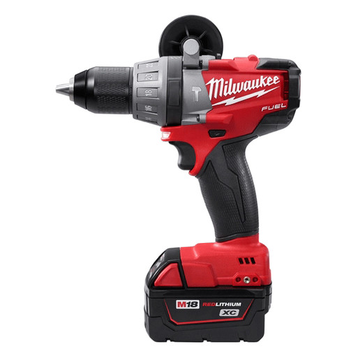 Factory Reconditioned Milwaukee 2604-82 M18 FUEL 18V Cordless Lithium-Ion Hammer Drill with XC Batteries