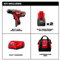 Milwaukee 2407-22 M12 Lithium-Ion 3/8 in. Cordless Drill Driver Kit (1.5 Ah) image number 1