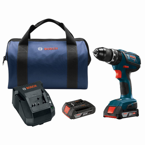 Factory Reconditioned Bosch HDS181A-02-RT 18V 2.0 Ah Cordless Lithium-Ion 1/2 in. Hammer Drill Driver Kit