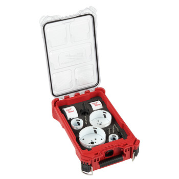 Milwaukee 49-22-5606 10-Piece Hole Dozer Hole Saw Kit with PACKOUT Compact Organizer image number 0