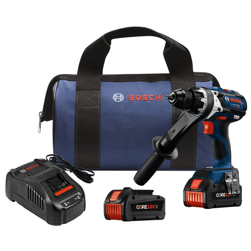 Bosch HDH183-B24 18V EC Brushless Brute Tough 1/2 in. Hammer Drill/Driver Kit with (2) CORE18V Batteries