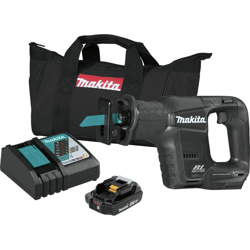 Makita XRJ07R1B 18V LXT Lithium-Ion Sub-Compact Brushless Reciprocating Saw Kit (2.0Ah) image number 0