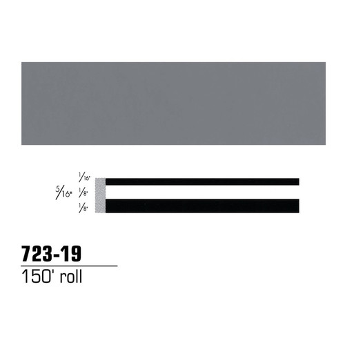 3M 72319 Scotchcal Striping Tape, Medium Gray, 5/16 in. x 150 ft.
