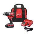 Milwaukee 2701-21P M18 Compact Brushless Drill Driver with Battery, Bag, and Starter Kit