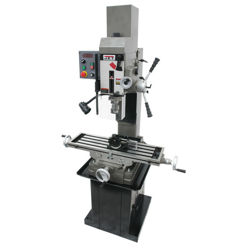 JET 351156 JMD-45VSPFT Variable Speed Geared Head Square Column Mill Drill with Power Downfeed and Newall DP700 2-Axis DRO