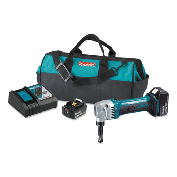 Makita XNJ01T 18V LXT 5.0 Ah/ 16 Gauge Cordless Lithium-Ion Nibbler Kit image number 0