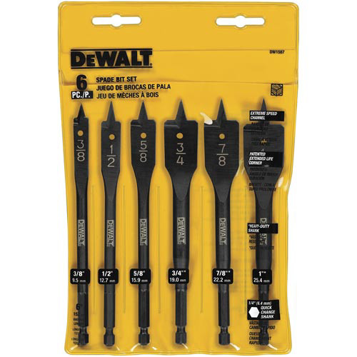 Dewalt DW1587 6 Pc Wood Boring Bit Set