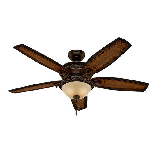 Hunter 54014 Prestige 54 in. Claymore Brushed Cocoa Ceiling Fan with Light