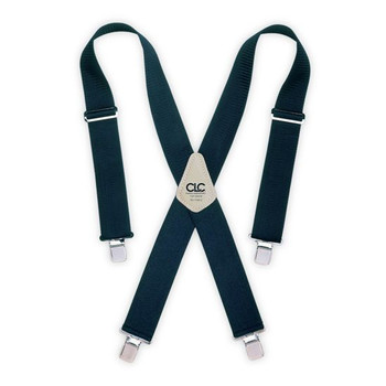 CLC 110BLU Custom LeatherCraft Heavy-Duty Work Suspenders with Elastic Straps (One Size-Blue) image number 0