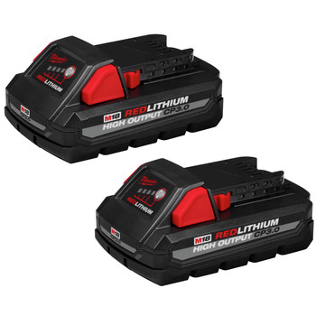 Milwaukee 48-11-1837 M18 REDLITHIUM HIGH OUTPUT CP 3 Ah Lithium-Ion Battery (2-Pack) image number 0