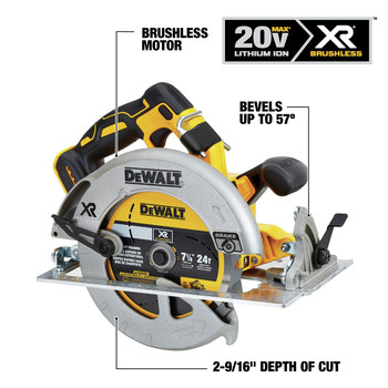 Dewalt DCS570B 20V MAX Li-Ion 7-1/4 in. Cordless Circular Saw (Tool Only) image number 2