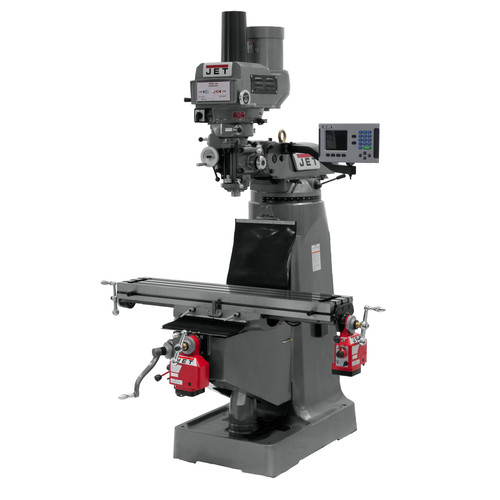 JET JTM-4VS 230/460V Variable Speed Milling Machine with ACU-RITE 200S DRO/X and Y-Axis Powerfeeds/Power Draw Bar image number 0