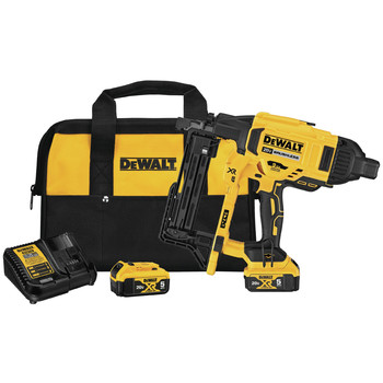 Dewalt DCFS950P2 20V MAX XR 9GA Fencing Stapler Kit with (2) 5 Ah Li-Ion Batteries