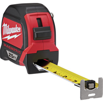 Milwaukee 48-22-7125C 25 ft. Magnetic and Compact Tape Measure (2 Pc) image number 3