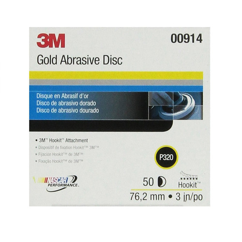 3M 914 Hookit Gold Disc, 3 in., P320A (50-Pack)