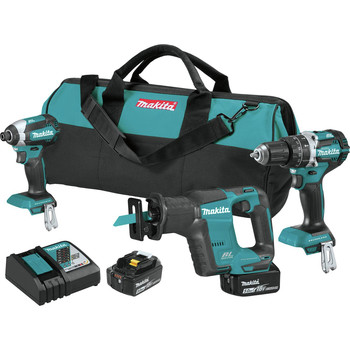 Makita XT337T 18V LXT Lithium-Ion 5.0 Ah Brushless 3-Piece Combo Kit image number 0