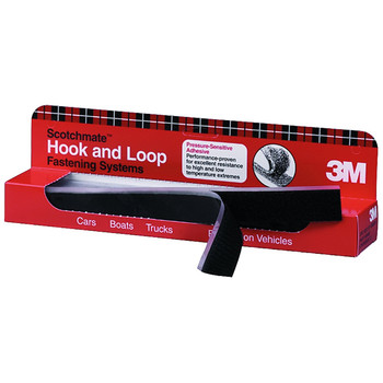 3M 6480 Scotchmate Hook and Loop Fastening System 1 in. x 12 in. (12-Pack)