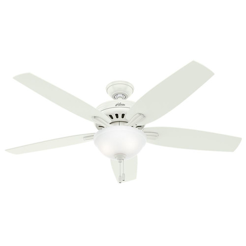 Hunter 54160 56 in. Newsome Fresh White Ceiling Fan with Light