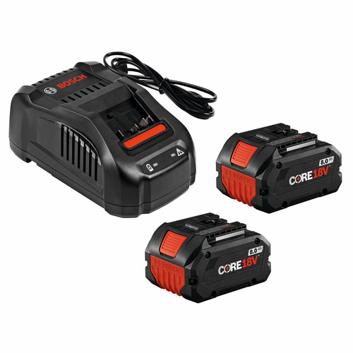 Bosch GXS18V-13N24 CORE18V 8.0 Ah Performance Batteries & Charger Starter Kit image number 0